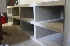 Meuble de cuisine en beton cellulaire
