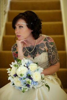 Creative Wedding Tattoos That Inspire You ★ wedding tattoos offbeat bride Brides With Tattoos, Tattooed Brides, Tattooed Wedding, Tattooed Women, On Your Wedding Day, Dream Wedding, Punk Wedding, Wedding Hair, Perfect Wedding