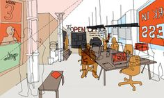 The Open Office … part 'Citizens Urban Advice Bureau', part functioning practice. Image: We Made That