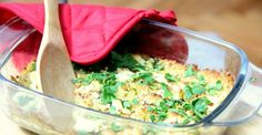 Recipe: Lentil and Goat Cheese Casserole | Greatist | Pinner's note - easy to make, tasty, and healthy. Served with a fried egg on top for lunch - but probably would add some spice next time I made (cumin or smoked paprika maybe?)