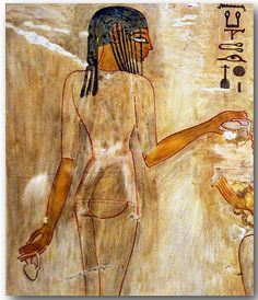 3. Women in Ancient Egyptian Art of the New Kingdom wearing a sheer long tunic