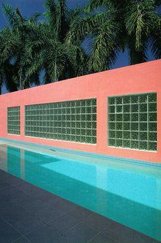 Laurinda Spear and Bernardo Fort-Brescia, Miami House Pool, water, blue, blue water, floatie, floaties, towel, swim suit, swim, swimwear, women's swim wear, friends, sunscreen, sunglasses