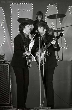 The Beatles perform at Budokan Hall in Tokyo, Japan for the first time, June Great Bands, Cool Bands, Spy Shows, The Beatles Live, Country Bands, Lennon And Mccartney, Old Family Photos, Beatles Photos, Recorder Music