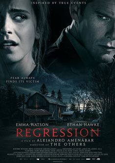 Regression is a 2015 Canadian-Spanish-American psychological thriller mystery film directed, produced and written by Alejandro Amenábar. The film stars Ethan Ha Top Movies, Movies To Watch, Ethan Hawke Movies, Psychological Thriller Movies, Regression Therapy, Mystery Film, Satanic Rituals, Cinema, Best Horrors