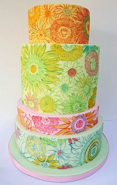 Painted cakes.
