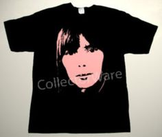 JONI MITCHELL drawing 12 CUSTOM ART UNIQUE T-SHIRT   Each T-shirt is individually hand-painted, a true and unique work of art indeed!  To order this, or design your own custom T-shirt, please contact us at info@collectorware.com, or visit  http://www.collectorware.com/tees-joni_mitchell.htm