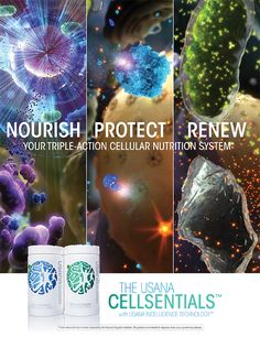 CellSentials with InCelligence Technology offering you the best nutritional supplementation in the world. www.mickey.usana.com