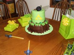 The Legend Of Zelda cake I made for my daughter's 18th BDay 2012 (MummaG)