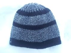 Three Black Stripes Gray Men's Hat by LaBufandaLLC on Sale