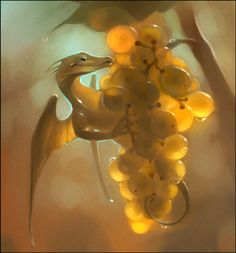 Grape dragon by GaudiBuendia.deviantart.com on @DeviantArt