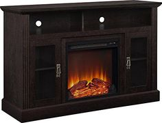 """Discounted Ameriwood Home Chicago Electric Fireplace TV Console for TVs up to a 50"""", Espresso"""