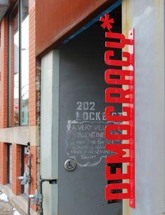 Democracy Coffee House on Locke Street in Hamilton, Ontario, Canada - Vegetarian, vegan, gluten-free friendly! Hamilton Ontario Canada, Coffee Culture, Commercial Architecture, Travel Images, Store Fronts, Vegan Friendly, Travel Around, Signage, Travel Inspiration