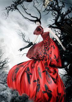 Alexander McQueen: Savage Beauty Fashion Illustration by Mahyar Kalantari