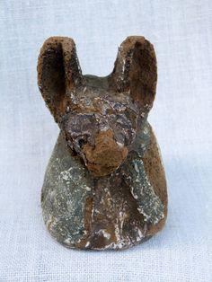 Antique for sale Ptolemaic statue Anubis egyptian god jackal pyx Mask Head Sculpture Fine arts architecture