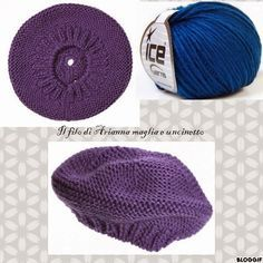 Il filo di Arianna maglia e uncinetto : Basco a maglia legaccio Knitting Club, Loom Knitting, Photo Pattern, Free Pattern, Knitted Slippers, Knitted Hats, Mitten Gloves, Mittens, Drops Baby