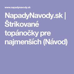 NapadyNavody.sk | Štrikované topánočky pre najmenších (Návod)