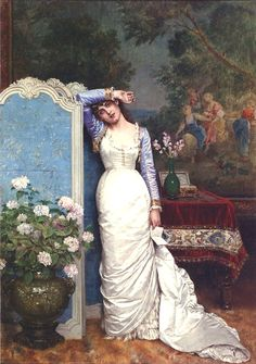 Auguste Toulmouche....Young Woman in an Interior