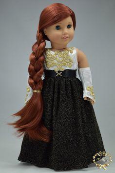 American girl doll clothes OOAK Luxury Formal by PurpleRoseNY American Girl Puppenkleidung OOAK Luxury Formal von PurpleRoseNY
