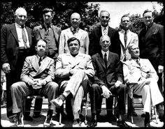The U.S. Baseball Hall of Fame elected its first members in Cooperstown, New York on January 29, 1936.  Pictured:  Photo of the 1939 Baseball Hall of Fame induction class. Back row: Honus Wagner, Grover Cleveland Alexander, Tris Speaker, Nap Lajoie, George Sisler and Walter Johnson. Seated: Eddie Collins, Babe Ruth, Connie Mack and Cy Young. Ty Cobb was late to the photo and is not pictured.  http://www.history.com/this-day-in-history/us-baseball-hall-of-fame-elects-first-members