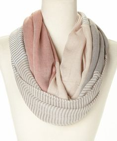 Love this Coral Pashmina Infinity Scarf on #zulily! #zulilyfinds