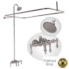 Strom Plumbing PN Exposed Wall Mount Thermostatic Tub - Taps for clawfoot tub