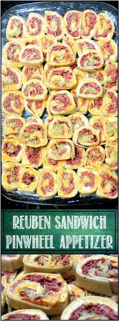 Inspired By eRecipeCards: Reuben Pinwheel Sandwich - 52 Appetizers