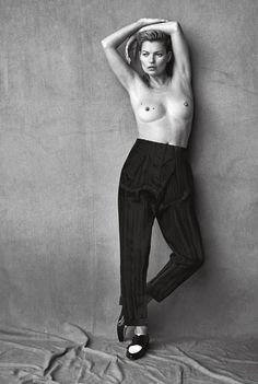 Kate Moss by Peter Lindbergh for Vogue Italia 2015