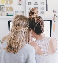Cute braid ideas for you and your bestie.