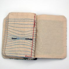 Candace Hicks | hand embroidered composition books | Common Threads String Theory