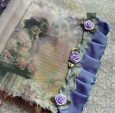 Handmade Fabric Birthday Book Page 12 by teacup mosaics, via Flickr
