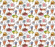 catfood (smaller) fabric by klawzie on Spoonflower - custom fabric