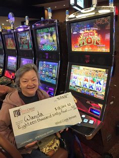 Ms. Wanda found her #WinningMoment! She was so excited about her Jackpot! #WindCreekAtmore