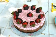 Chocolate Strawberry Mousse Cake. Photo by Irmgard