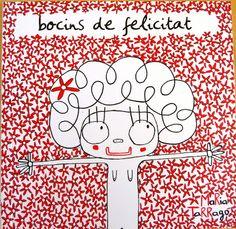 """""""Bocins de felicitat"""" Text i il·lustració de Maria Tarragó"""
