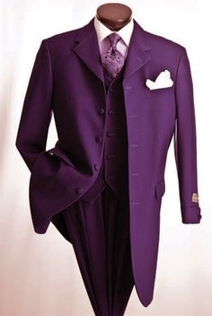 Vittorio St. Angelo Men's 3 Piece Poplin Zoot Suit - Urban