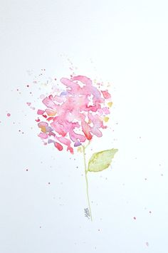 Watercolor Hydrangea Painting – Original Watercolor Art, Unmounted, Nursery, Wall Decor, Home Decor, Flower Paintings - by MABartStudio by MABArtStudio on Etsy https://www.etsy.com/listing/224559881/watercolor-hydrangea-painting-original