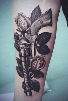 Gun Tattoo   #Tattoo, #Tattooed, #Tattoos