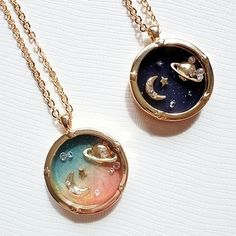 Fantasy universe planet Saturn Harajuku Moon Diamond Necklace sold by Goromiau. Shop more products from Goromiau on Storenvy, the home of independent small businesses all over the world. Ear Jewelry, Cute Jewelry, Jewelry Box, Jewelry Accessories, Jewelry Necklaces, Stylish Jewelry, Fashion Jewelry, Aesthetic Rings, Magical Jewelry
