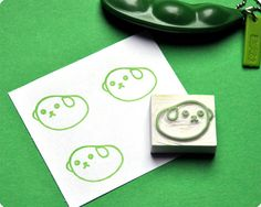 Mameshiba hand carved rubber stamps by Memi The Rainbow, via Flickr
