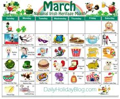 """Did you know that there is a holiday for everyday of the year. Nothing big, but they are fun little things to """"celebrate"""". Here is a calendar of all the months. Though the months don… Unusual Holidays, Wacky Holidays, Weird Holidays, Weird National Holidays, Funny Holidays, National Holiday Calendar, Monthly Celebration, March Holidays, Lovers Day"""