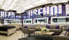 """The Big Brother Canada 4 House has been revealed as a """"Las Vegas-inspired"""" design for the new season as official photos from Global and Shaw confirm the early details leaked from audience members in Friday's… Big Brother Canada, Office Christmas, Christmas Ideas, Big Brother House, Household, Loft, Design Inspiration, House Design, Bedroom"""
