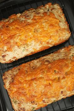 Cheesy Beer Quick Bread- tried this.  super easy and yummy.  Didn't have any green onions, so i subbed a tbsp of Italian seasoning and also added a tbsp of ranch dressing powder.