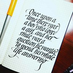 once upon a time there was a boy - calligraphy by sachin shash // @sachinspiration