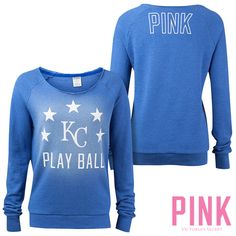 Kansas City Royals Victoria's Secret PINK® Raw Neck Raglan Sweatshirt  - MLB.com Shop