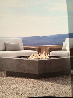 Concrete fire pit How to from dwell magazine