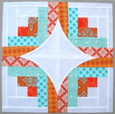 "Sew Kind Of Wonderful: ""Curve it up"" Log Cabin ~ Block #7"