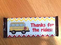 Say thank you to your child's teacher and bus driver with these adorab Bus Driver Appreciation, Teacher Appreciation Week, School Gifts, Student Gifts, Teacher Christmas Gifts, Teacher Gifts, Bus Driver Gifts, Best Teacher Ever, Hershey Bar