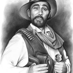 Gunsmoke Canvas Print - Festus Haggen by Greg Joens Cherokee Indian Art, American Indian Art, Native Indian, Celebrity Caricatures, Celebrity Drawings, Indian Art Traditional, 3d Drawings, Pencil Drawings, Drawing Portraits