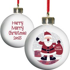 This decorative Rooftop bauble features a Christmas Santa.  #ChristmasGifts