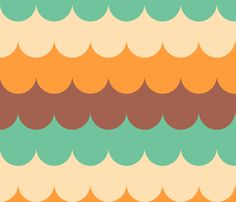 waves_melba fabric by holli_zollinger on Spoonflower - custom fabric (accent wall in the bathroom)